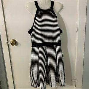 Forever 21 striped T back halter style dress